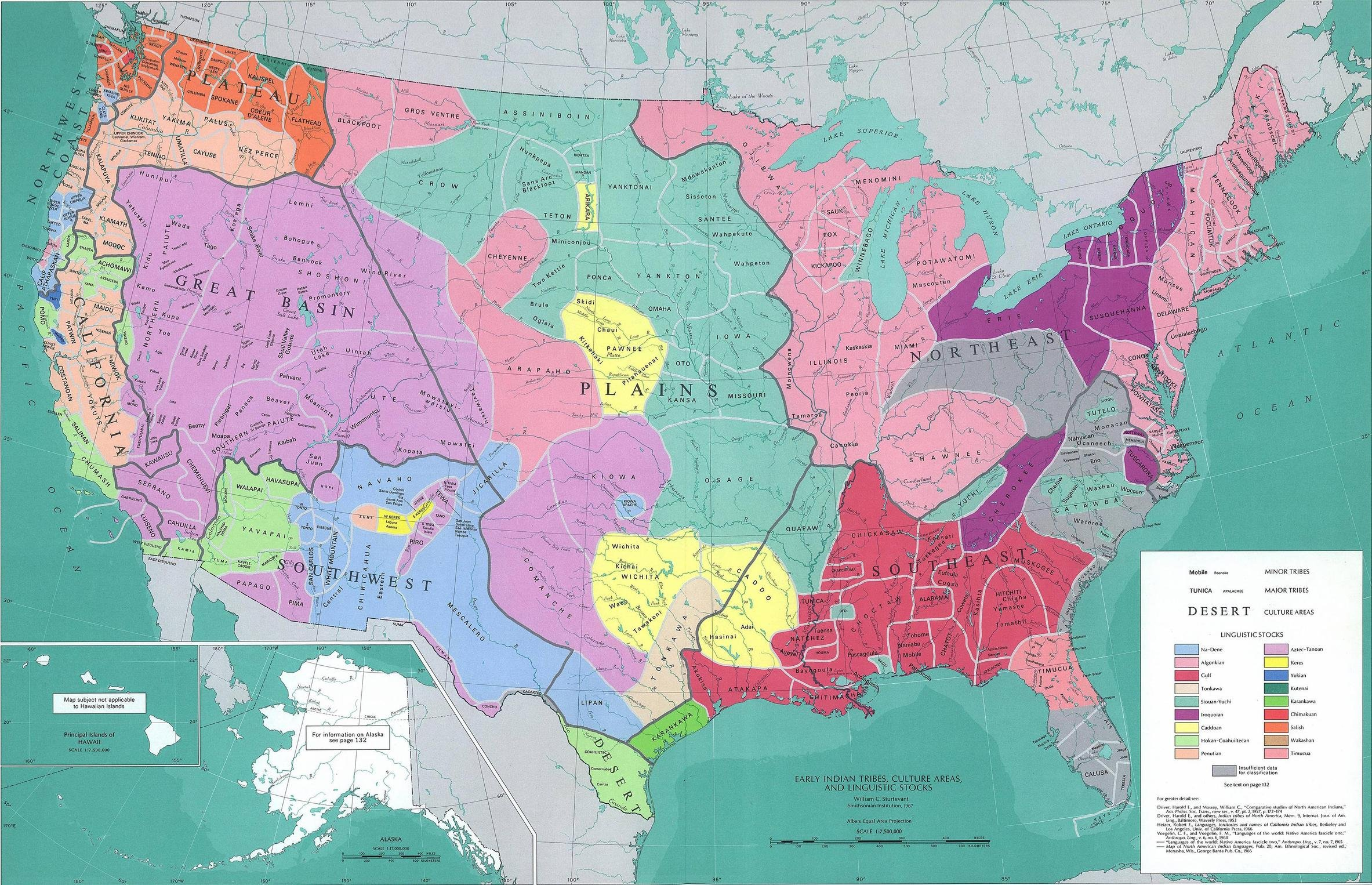 Native American tribes and their languages