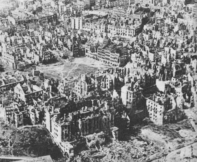 View of Warsaw after World War II
